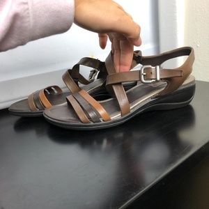 Ecco Shoes - Ecco Brown Ankle Sandals Size 39